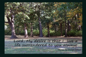 Surrendering to you,today and always